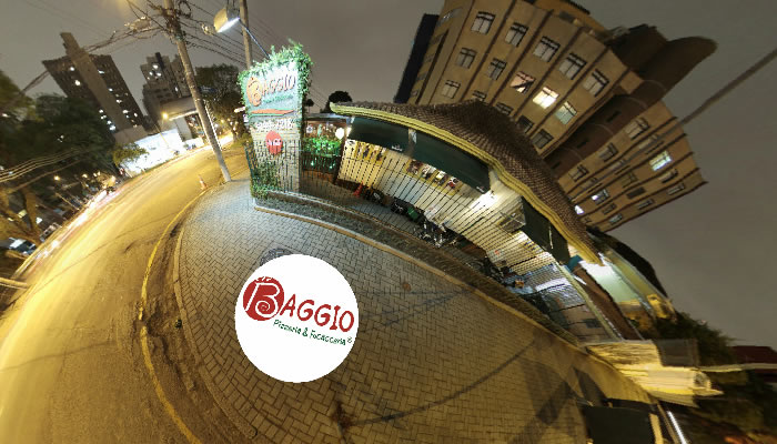 360curitiba tour virtual, tour virtual de pizzaria, Street view da pizzaria baggio